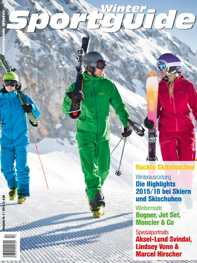 Cover Sportguide Winter, Oktober 2015